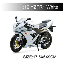 YMH YZF R1 White motorcycle model 1:12 scale models Alloy racing Toys Gift Toy
