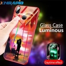 Luminous Case For Huawei  Mate 20 pro Honor 8A 8X MAX Nova 5 4 3 i Cases Night Shine Aurora Gradient Luxury Cover