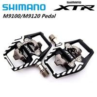 Shimano XTR M9100 M9120 Mountainbike SPD Klick rennen Pedale Set & Stollen upgrade für M9000 M9020