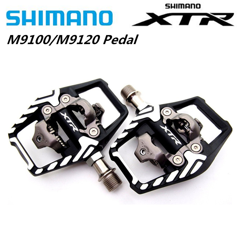 Shimano XTR <font><b>M9100</b></font> M9120 Mountain Bike SPD Clipless race Pedals Set & Cleats upgrade for M9000 M9020 image