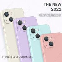 Cuadrado líquido de silicona Protector de la caja del teléfono para iPhone Pro 13 13 Pro Max 13 Mini 12 11 Pro Max X XS X máx. 6s 6 7 8 Plus SE 2