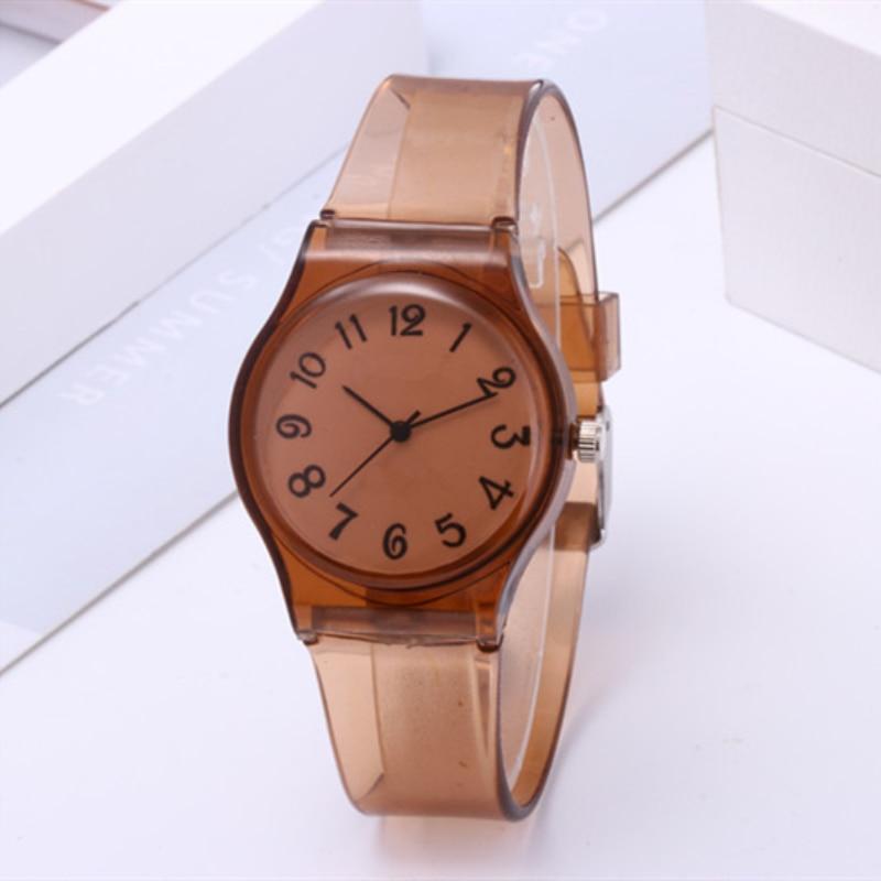 Timezone 2020 New Kids Watches 8 Colors Transparent Women Watch Children Students Watch Girls Watches Hot Reloj Mujer Clock