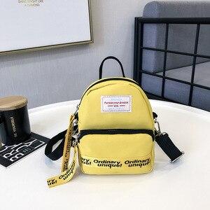 Image 2 - Ougger Woman Shoulder Bag Concise Fashion Simple Canvas Ins Ladies Mini Leisure Crossbody Bags Women Messenger Bag with Zipper