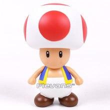 Super bros cogumelo sapo pvc figura de ação modelo de brinquedo