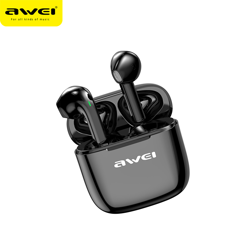 AWEI Newest Bluetooth V5.0 Earbuds TWS Stereo Bass Sound Powerful Bass Sound Touch Control With Mic