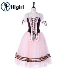purple Romantic ballet tutu dress, professional costumes Giselle Ballet dresses ,ballerina brown dress kids BT8904D