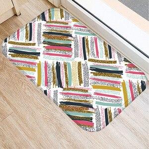 Image 4 - 40*60cm geometryczny Pigment antypoślizgowy zamsz miękki dywan wycieraczka do butów kuchnia salon mata podłogowa do pokoju główna sypialnia dekoracyjna mata podłogowa.