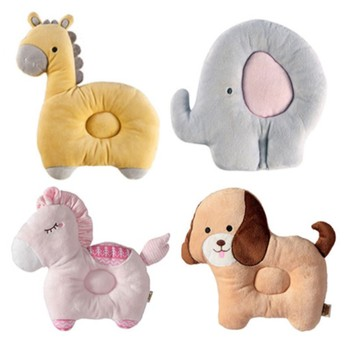 Cute Animal Baby Shaping Pillow for Infant Soft Girl Bedding Pillows Newborn Bite Breathable Prevent Flat Head Cushion Washable - discount item  40% OFF Bedding