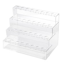 Four Layers Cosmetics Nail Polish Rack Display Holder Plastic Box Acrylic Stand Case Lipstick Organizer Storage Nail Art Display(China)