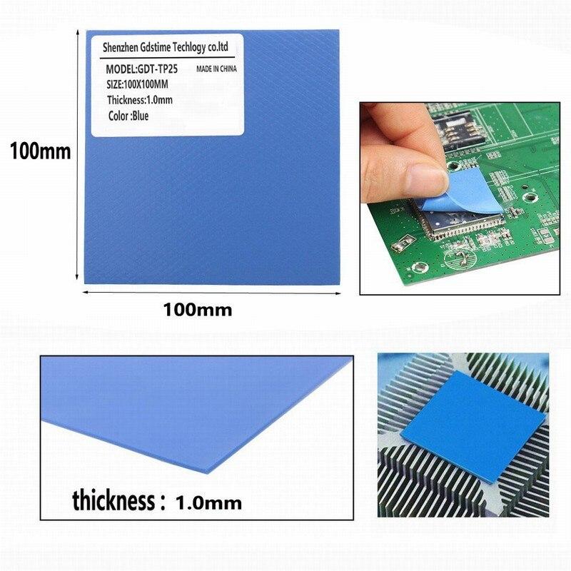 Купить с кэшбэком 3 Pcs 100mm*100mm 0.5mm 1mm 1.5mm Combination Thermal  Conductive Silicone Pads Heatsink Cooling Pad For Laptop IC GPU VGA Card
