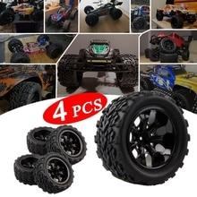 High Quality Tyre Wheel Rim Big Truck Off-Road Car Tires Set for HPI HSP Traxxas 1:10 RC Monster Big