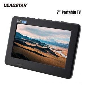 LEADSTAR 7inch Mini TV DVB-T/DVB-T2 Digital Analog TV 800x480 1080P Portable Car TV USB memory Card Audio Video Playback EU Plug