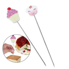 Aoshang 3Pcs Stainless Steel Cake Tester Reusable Metal Cake Probe Cake Testing Needle Home Bakery Muffin Bread Cake Tester Probe Skewer Pin Needle Kitchen Baking Assistant Tool,7.5 Inches
