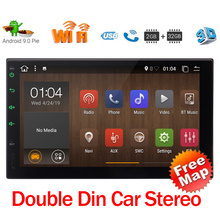 Double Din Car Stereo Android 9.0 7 Touchscreen Car Radio Multimedia Player 2 Din Android Bluetooth GPS Navigation SWC Camera