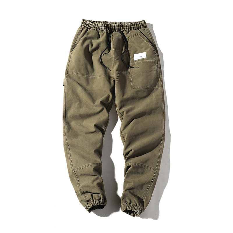 Yi Dao Vintage Autumn New Style Japanese Style Casual Workwear Ankle Banded Pants Men's Street Popular Brand Casual Loose-Fit Ve
