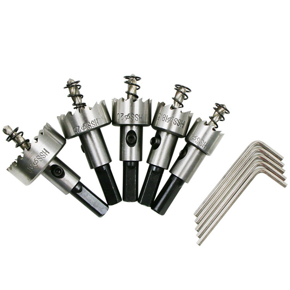 5pcs Hss Carbide Tip Core Drill Bit Hole Saw Opener Set High Speed Stainless Steel Alloy Metal Sheet Reamer 16 18 5 20 25 30mm Power Tool Accessories Aliexpress