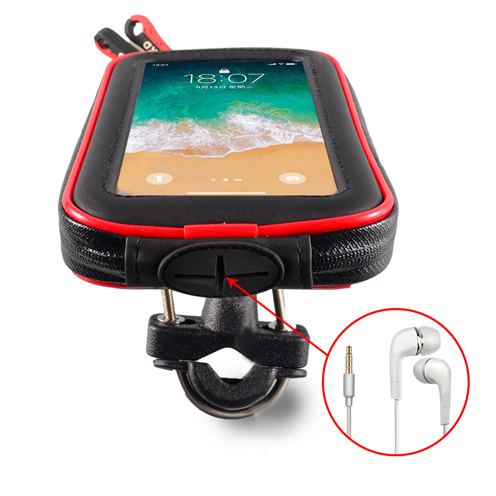 lowest price For GPS Motorcycle Phone Holder Waterproof Bag Bicycle Phone Holder Adjustable Handlebar Support Moto Mount Card slots