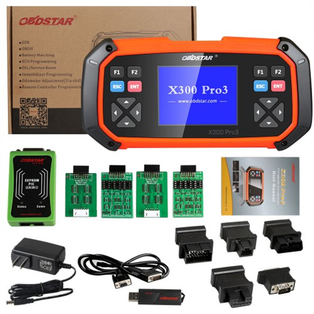 OBDSTAR X300 Pro3 Key Programmer With Immobiliser + Odometer Adjustment +EEPROM/PIC+OBDII Function X 300 Pro 3 Update Online