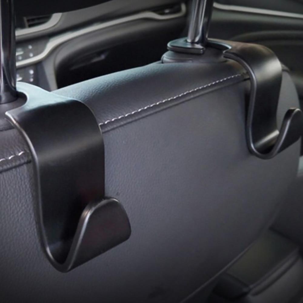 Car Portable Seat Hanger Purse Bag Holder Hook Headrest Auto Rear Racks Hook Storage Clip