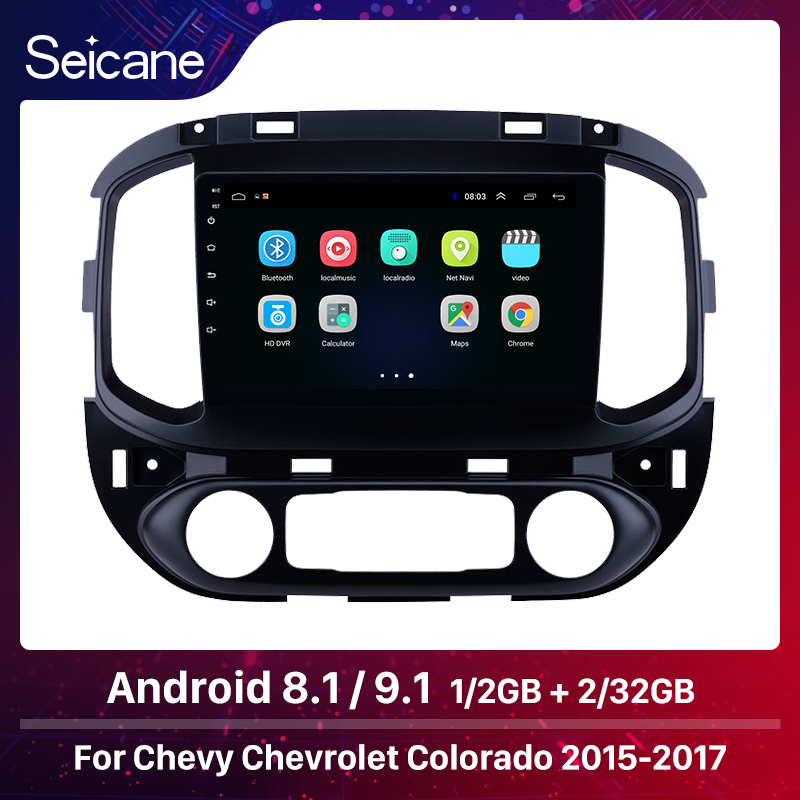 Seicane OEM <font><b>2DIN</b></font> GPS <font><b>Autoradio</b></font> HD Touchscreen 9 inch Android 8.1 <font><b>Car</b></font> <font><b>Radio</b></font> for chevy Chevrolet Colorado 2015 2016 2017 Carplay image