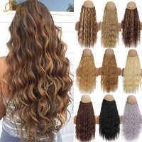 TaLang-hilo Invisible sin Clips para mujer, extensión de cabello, línea de pescado secreto, peluca sintética rizada