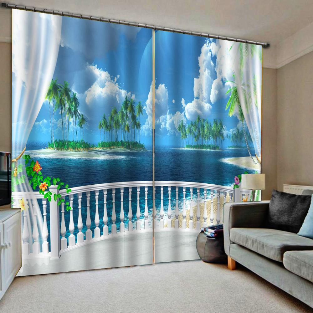 3D Window Curtains Modern Luxury Curtains Living Room ...
