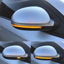 LED דינמי הפעל אות אור עבור פולקסווגן פאסאט B6 גולף 5 Jetta MK5 פאסאט B5.5 GTI V שרן זורם מים נצנץ מהבהב אור