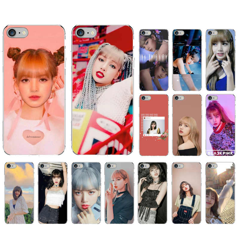 Yinuoda ZWART ROZE BLACKPINK lisa TPU Zachte Siliconen Phone Case Cover voor iPhone X XS MAX 6 6S 7 7plus 8 8Plus 5 5S XR 11 pro max