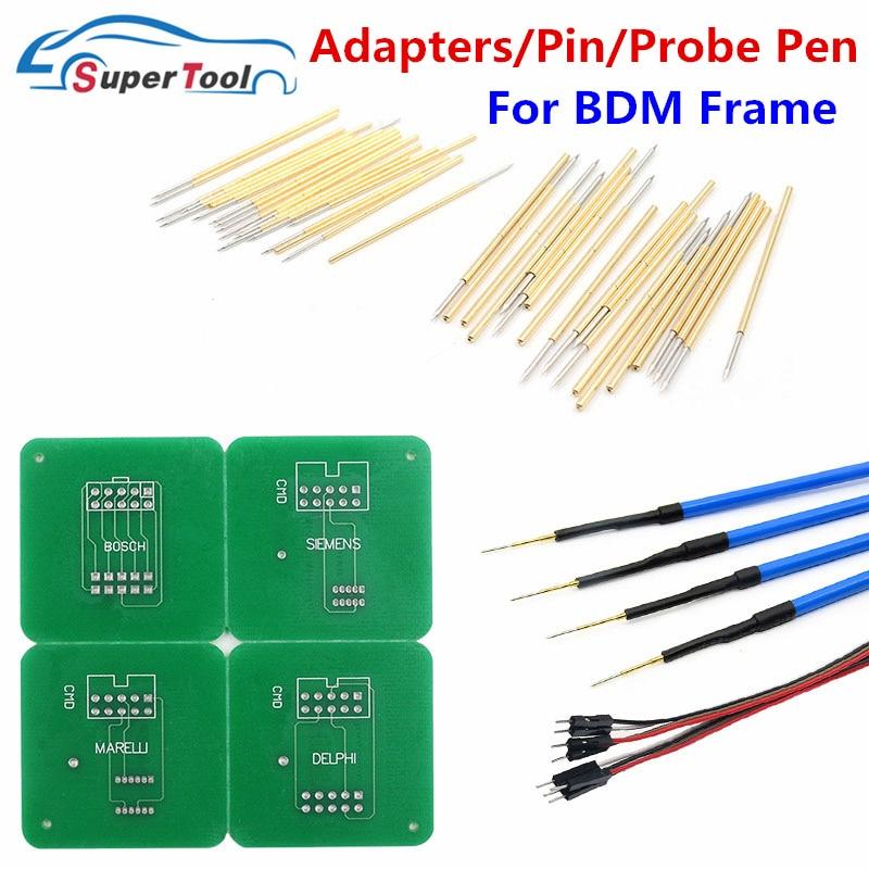4 pces ponta de prova caneta para led bdm quadro ecu chip ferramenta de ajuste 40 bdm pino + adaptadores para bdm quadro para kess v2/ktag/fgtech ecu programador