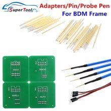 4 pces ponta de prova caneta para led bdm quadro ecu chip ferramenta de ajuste 40 bdm pino + adaptadores para bdm quadro para kess/k-tag/fgtech ecu programador