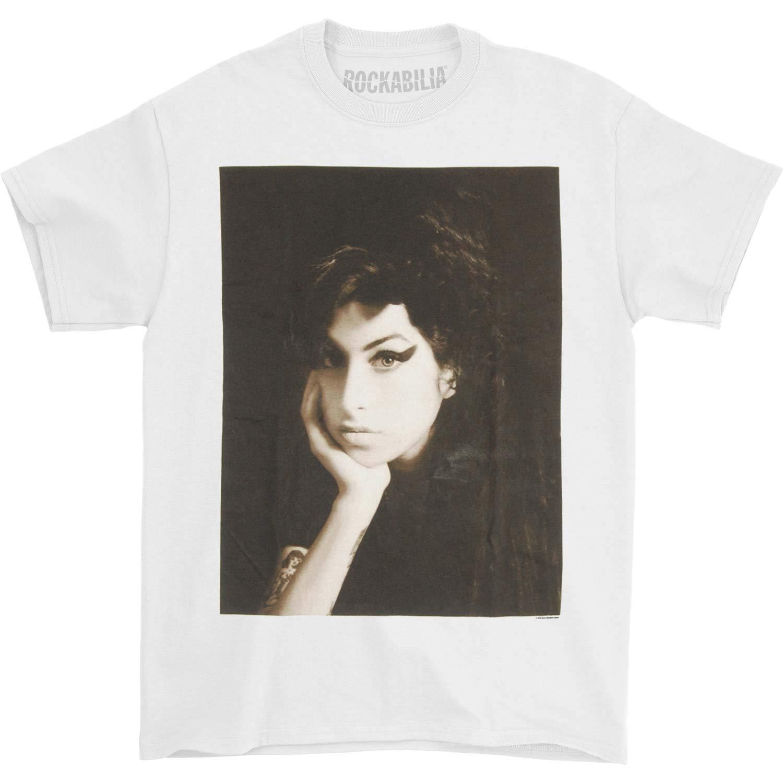 Amy winehouse Мужская футболка B & W фото белые мужские футболки летний Стиль Модные