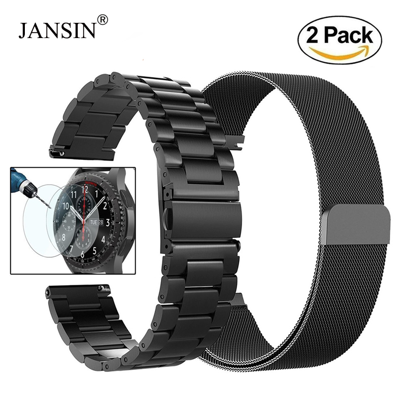 22mm Universal Milanese Loop Band For Samsung Gear S3 Classic/S3 Frontier/galaxy Watch 46mm Adjustable Stainless Steel Strap