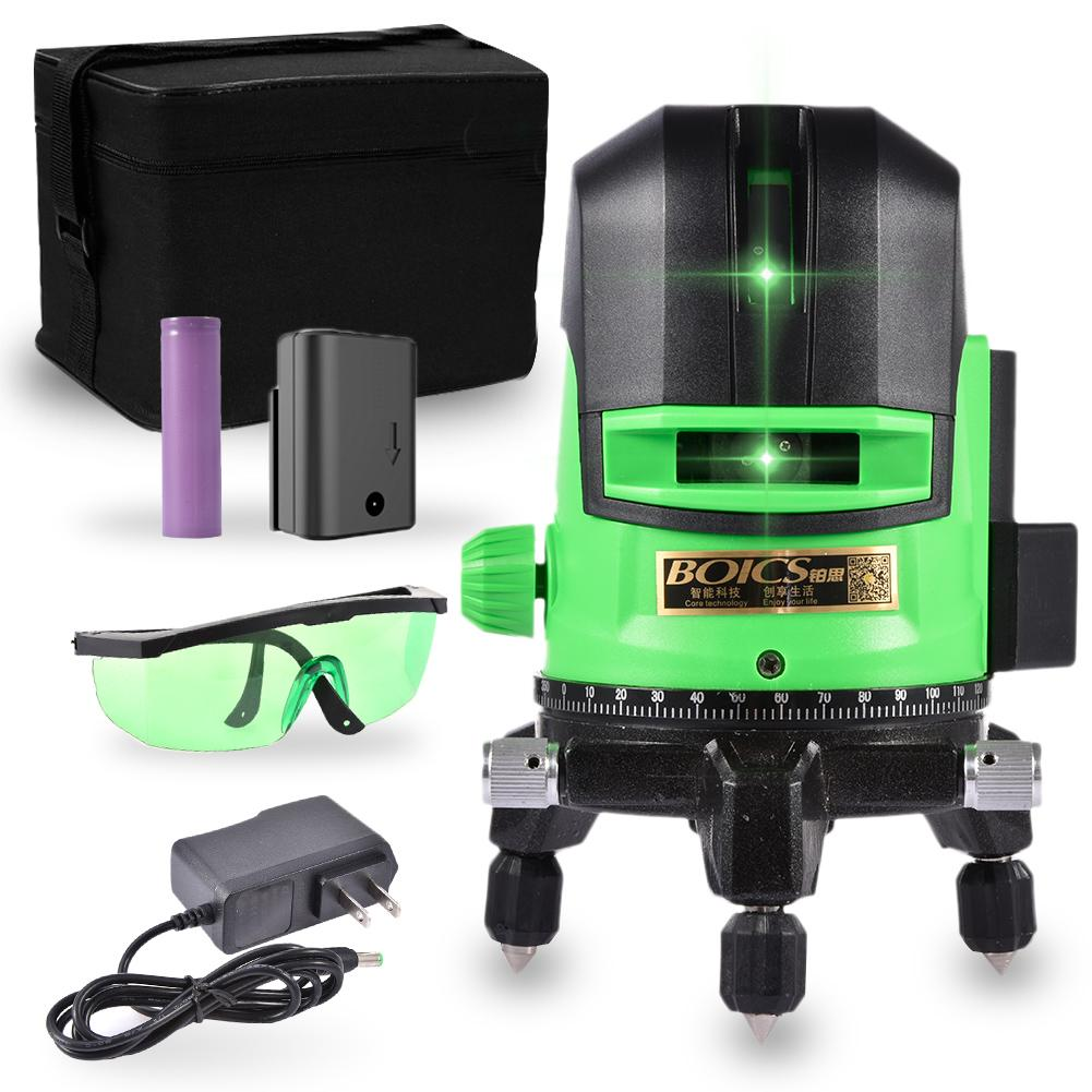 Measuring Laser Level 3D Self-Leveling 360 Horizontal And Vertical Super Powerful Green Laser Level Infrared Ray Projector