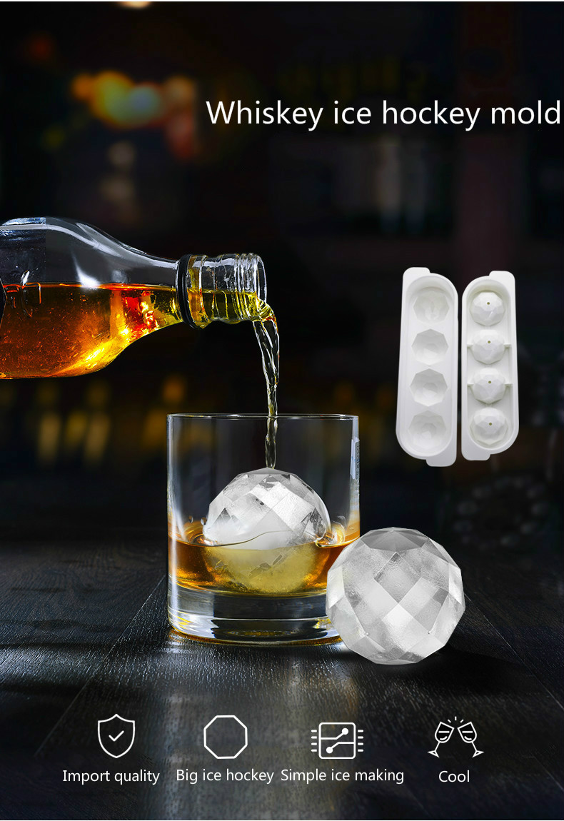 Whiskey <font><b>Ice</b></font> Cube <font><b>Ice</b></font> Maker Spherical Mold Brick Round Stick Fittings Quality Color <font><b>Ice</b></font> Mold Kitchen <font><b>Tools</b></font> image