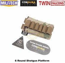 MILITECH TWINFALCONS TW 500D Delustered קורדורה Molle 6 סיבובים באק Shotgun מעטפת פלטפורמת תחמושת פאוץ גומייה תחמושת בסיס