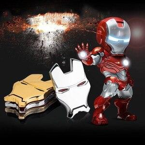 Image 3 - 3D Chrom Metall Eisen Mann Auto Emblem Aufkleber Dekoration Die Avengers Auto Styling Aufkleber Außen Zubehör für auto volkswagen