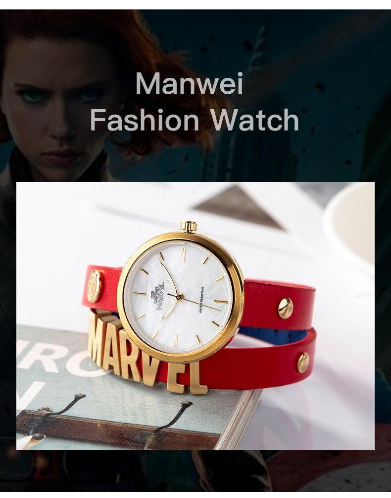Disney marvel relógio de pulso de quartzo