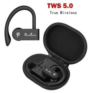 Image 2 - Bluetooth אוזניות אלחוטי אוזניות Bluetooth 5.0 ספורט עמיד למים Ipx4 בס סטריאו אוזניות W/מיקרופון PunnkFunnk טלפון אוזניות
