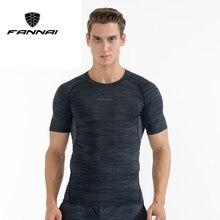 FANNAI Mens Compression Short Sleeve T Shirt Bodybuilding Fitness Sportswear Men Sport Tops Running Tight Tees Ropa Deportiva
