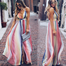 Summer new style Open back cross dress Bohemian long dress Printed temperament chiffon party dress all over printed open shoulder dress
