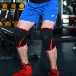 Image 5 - 7mm Neoprene משקולות ספורט הברך רפידות דחיסת הרמת כוח גוץ אימון כושר תמיכת מגן כדורסל Kneepad
