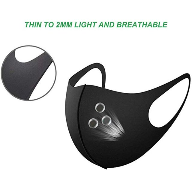 Face Masks Mouth Anti Dust Muffle Polyurethane Carbon Black Activated Filter Windproof Cotton PM2.5 3-layer Bacteria Proof Flu 2