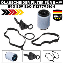 For BMW E46 E53 E60 E87 E90 E83 E91 E39 E61 X3 X5 1998-2012 #11127793164 Crankcase Oil Breather Separator Filter With Gaskets