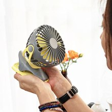 New Desktop Clip Fan Rechargeable 360 Degree 4 Speeds Air USB Charging Cooling 4000mAh Fans Outdoor Tools 1PCs