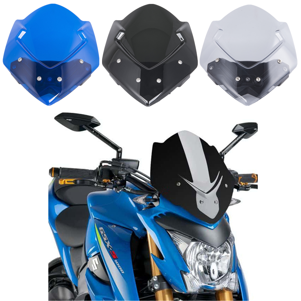 For Suzuki GSXS1000 GSXS GSX-S 1000 2016 2017 2018 2019 Windshield Windscreen Wind Deflectors Protector with Mounting Bracket image