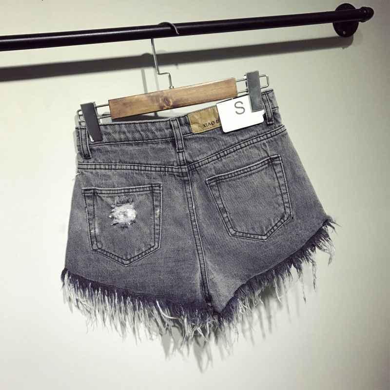 2017 новое поступление повседневные летние горячие продажи джинсовые женские шорты высокие waists с меховой подкладкой для ног плюс размер сексуальные короткие джинсы TJ1115
