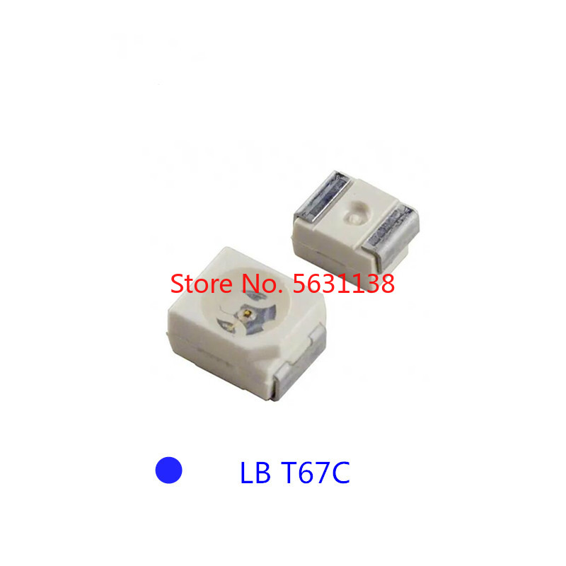 10PCS LB T67C-Q2S1-35-Z 3528 BLUE SMD chip LED (LB T67C LBT67C) Q2-4 <font><b>470NM</b></font> 3.2V 20mA PLCC-2 Light Beads Emitting Diode wholesale image