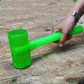 Perfekte Doppel-seitige Gummi Hammer Runde Nicht-slip Metall Kunststoff Griff Installation Hammer für Fliesen Bodenbelag Bau Werkzeug
