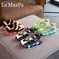 Светящиеся кроссовки для мальчиков с подошвой Enfant  светящиеся кроссовки для девочек  детская обувь с подсветкой  новинка 2019