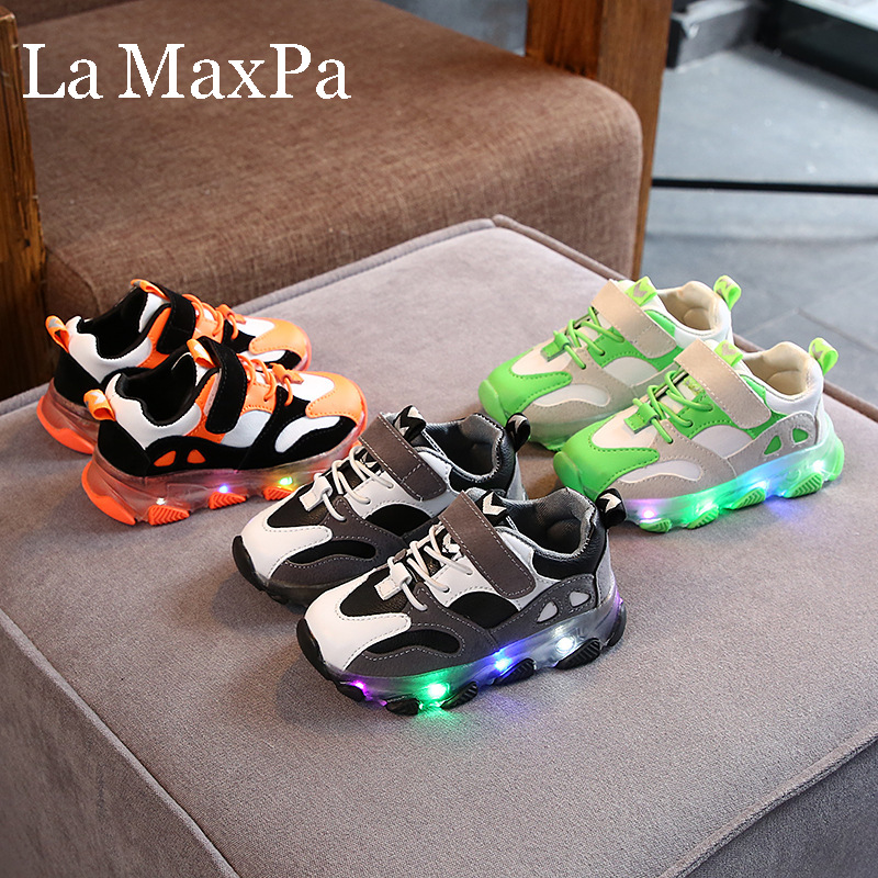 2019 New Glowing Sneakers For Children Boys Shoes With Sole Enfant Led Light Luminous Sneakers For Girls Shoes Kids Led Shoes